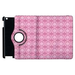 Pattern Pink Grid Pattern Apple Ipad 2 Flip 360 Case by Onesevenart