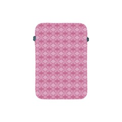 Pattern Pink Grid Pattern Apple Ipad Mini Protective Soft Cases by Onesevenart