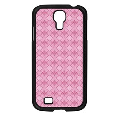 Pattern Pink Grid Pattern Samsung Galaxy S4 I9500/ I9505 Case (black) by Onesevenart