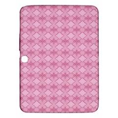 Pattern Pink Grid Pattern Samsung Galaxy Tab 3 (10 1 ) P5200 Hardshell Case  by Onesevenart