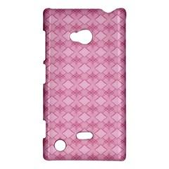 Pattern Pink Grid Pattern Nokia Lumia 720 by Onesevenart