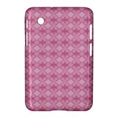 Pattern Pink Grid Pattern Samsung Galaxy Tab 2 (7 ) P3100 Hardshell Case  by Onesevenart