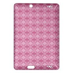 Pattern Pink Grid Pattern Amazon Kindle Fire Hd (2013) Hardshell Case by Onesevenart