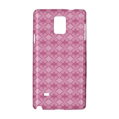 Pattern Pink Grid Pattern Samsung Galaxy Note 4 Hardshell Case by Onesevenart