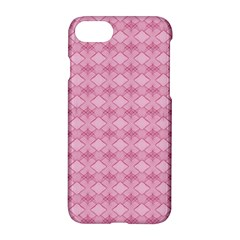Pattern Pink Grid Pattern Apple Iphone 7 Hardshell Case by Onesevenart