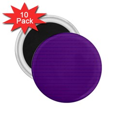 Pattern Violet Purple Background 2 25  Magnets (10 Pack)  by Onesevenart