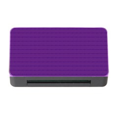 Pattern Violet Purple Background Memory Card Reader With Cf by Onesevenart