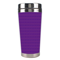 Pattern Violet Purple Background Stainless Steel Travel Tumblers by Onesevenart