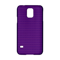 Pattern Violet Purple Background Samsung Galaxy S5 Hardshell Case  by Onesevenart