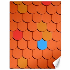 Roof Brick Colorful Red Roofing Canvas 36  X 48   by Onesevenart