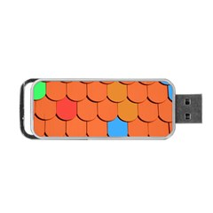 Roof Brick Colorful Red Roofing Portable Usb Flash (two Sides) by Onesevenart