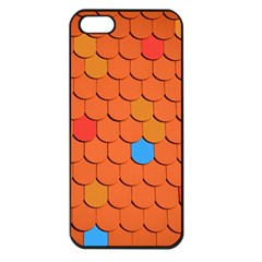 Roof Brick Colorful Red Roofing Apple Iphone 5 Seamless Case (black) by Onesevenart