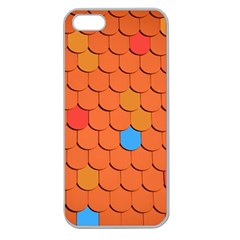 Roof Brick Colorful Red Roofing Apple Seamless Iphone 5 Case (clear) by Onesevenart