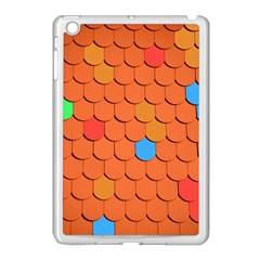 Roof Brick Colorful Red Roofing Apple Ipad Mini Case (white) by Onesevenart