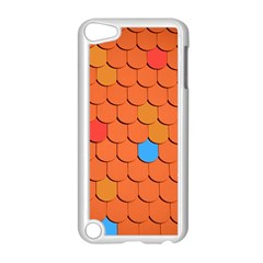 Roof Brick Colorful Red Roofing Apple Ipod Touch 5 Case (white) by Onesevenart
