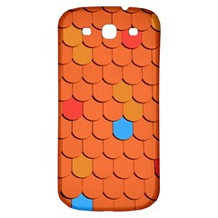 Roof Brick Colorful Red Roofing Samsung Galaxy S3 S Iii Classic Hardshell Back Case by Onesevenart