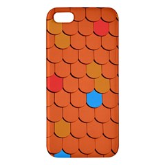 Roof Brick Colorful Red Roofing Apple Iphone 5 Premium Hardshell Case by Onesevenart