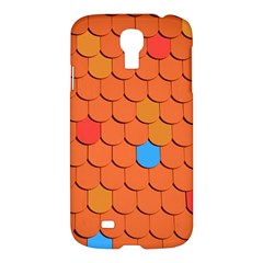 Roof Brick Colorful Red Roofing Samsung Galaxy S4 I9500/i9505 Hardshell Case by Onesevenart
