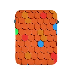 Roof Brick Colorful Red Roofing Apple Ipad 2/3/4 Protective Soft Cases by Onesevenart