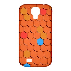 Roof Brick Colorful Red Roofing Samsung Galaxy S4 Classic Hardshell Case (pc+silicone) by Onesevenart