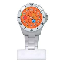 Roof Brick Colorful Red Roofing Plastic Nurses Watch by Onesevenart