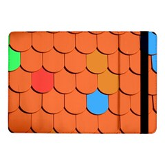 Roof Brick Colorful Red Roofing Samsung Galaxy Tab Pro 10 1  Flip Case by Onesevenart