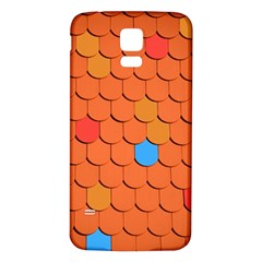 Roof Brick Colorful Red Roofing Samsung Galaxy S5 Back Case (white) by Onesevenart