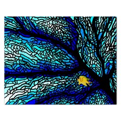 Sea Fans Diving Coral Stained Glass Rectangular Jigsaw Puzzl by Onesevenart