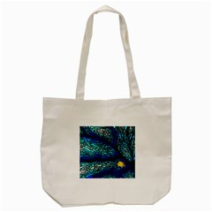 Sea Fans Diving Coral Stained Glass Tote Bag (cream) by Onesevenart