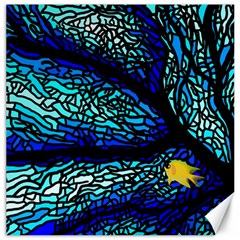 Sea Fans Diving Coral Stained Glass Canvas 16  X 16   by Onesevenart