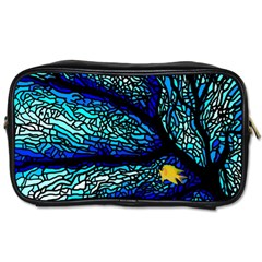 Sea Fans Diving Coral Stained Glass Toiletries Bags 2 Side by Onesevenart