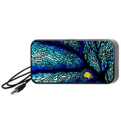 Sea Fans Diving Coral Stained Glass Portable Speaker (black) by Onesevenart
