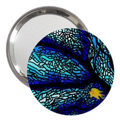 Sea Fans Diving Coral Stained Glass 3  Handbag Mirrors by Onesevenart