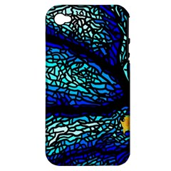 Sea Fans Diving Coral Stained Glass Apple Iphone 4/4s Hardshell Case (pc+silicone) by Onesevenart