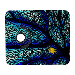 Sea Fans Diving Coral Stained Glass Galaxy S3 (flip/folio) by Onesevenart