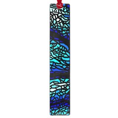 Sea Fans Diving Coral Stained Glass Large Book Marks by Onesevenart