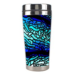 Sea Fans Diving Coral Stained Glass Stainless Steel Travel Tumblers by Onesevenart