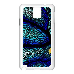 Sea Fans Diving Coral Stained Glass Samsung Galaxy Note 3 N9005 Case (white) by Onesevenart