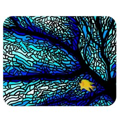 Sea Fans Diving Coral Stained Glass Double Sided Flano Blanket (medium)  by Onesevenart