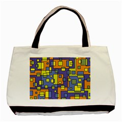 Square Background Background Texture Basic Tote Bag by Onesevenart
