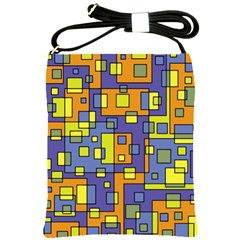 Square Background Background Texture Shoulder Sling Bags by Onesevenart
