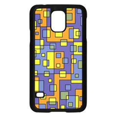 Square Background Background Texture Samsung Galaxy S5 Case (black) by Onesevenart