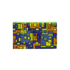 Square Background Background Texture Cosmetic Bag (xs) by Onesevenart