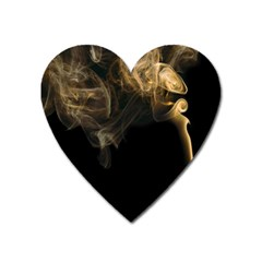 Smoke Fume Smolder Cigarette Air Heart Magnet by Onesevenart