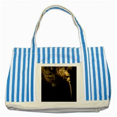 Smoke Fume Smolder Cigarette Air Striped Blue Tote Bag by Onesevenart