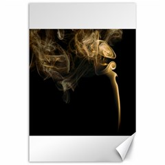 Smoke Fume Smolder Cigarette Air Canvas 24  X 36  by Onesevenart