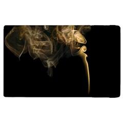 Smoke Fume Smolder Cigarette Air Apple Ipad 3/4 Flip Case by Onesevenart