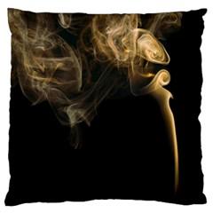 Smoke Fume Smolder Cigarette Air Standard Flano Cushion Case (two Sides) by Onesevenart