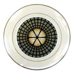 Stained Glass Colorful Glass Porcelain Plates by Onesevenart