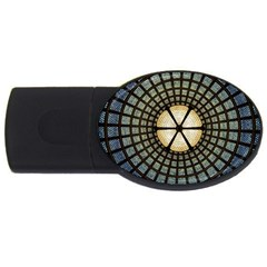 Stained Glass Colorful Glass Usb Flash Drive Oval (4 Gb) by Onesevenart